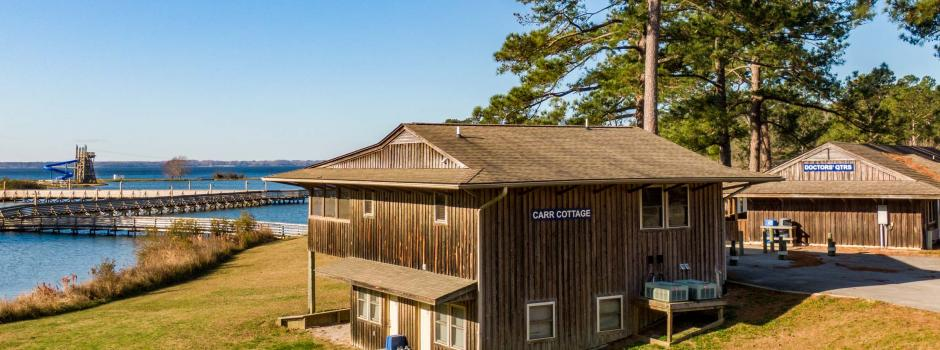 Coastal Cabin Rentals, Carr Cottage, outside river view
