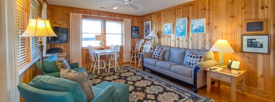 Coastal Cabin Rental, Carr Cottage, inside