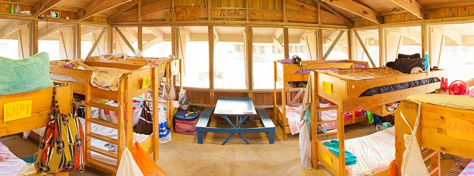Coastal Cabin Rentals, Open Air Cabins, Bunks