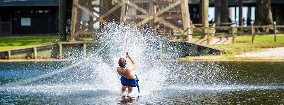 Zipline at Camp Sea Gull